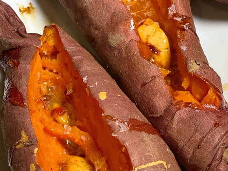 Ina's Roasted Sweet Potatoes with Chipotle Orange Butter