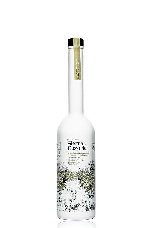Aceite Oliva Ecológico Royal Albequina y Picual 500ml Sierra de Cazorla Blanca
