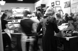 lifestyle photography patisserie b/w