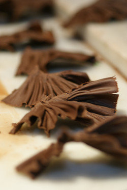 shaved chocolate photography