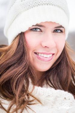 Delanie, winter portrait