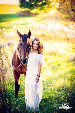 hs senior photography, equine