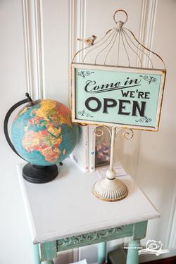open studio sign