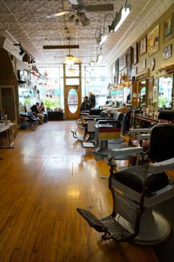 Interior barbershop lifestyle photo