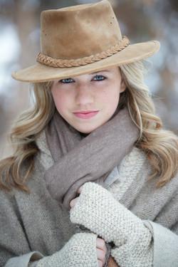 Olivia, winter, portrait
