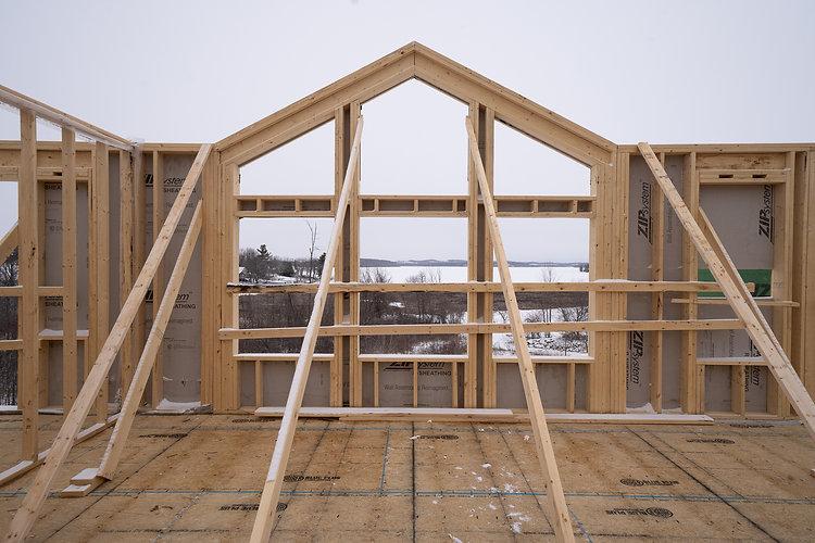 Framing of a custom home