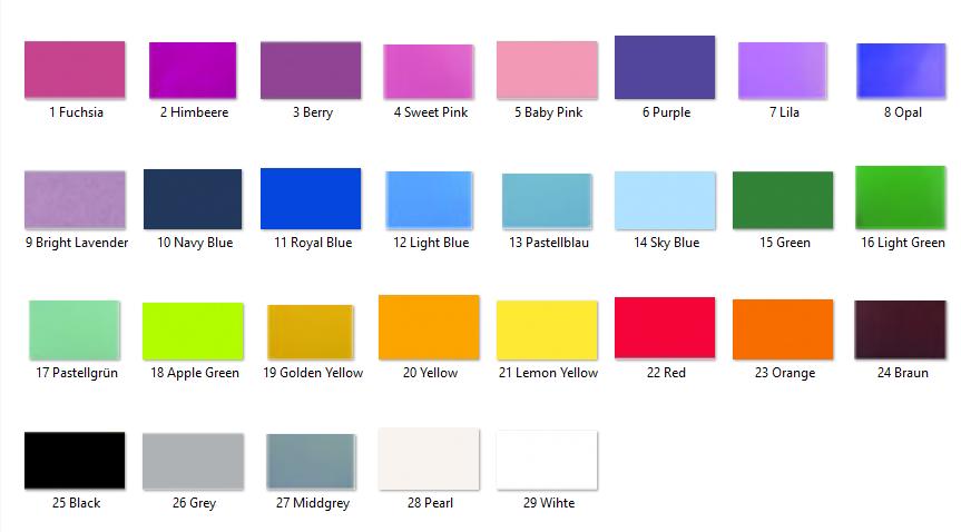 Schriftfarbe für Textilien