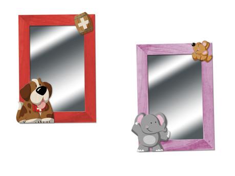 Die hübschen Holzspiegel sind ein echter Hingucker in jedem Kinderzimmer.  Kinderspiegel Weizenkorn