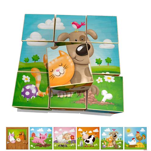 Würfelpuzzle 9-teilig Weizenkorn