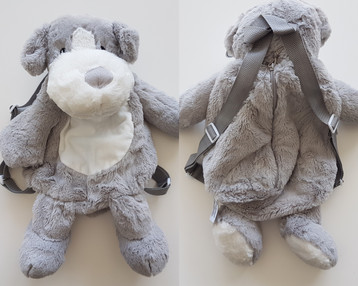 Plüsch Rucksack Hund