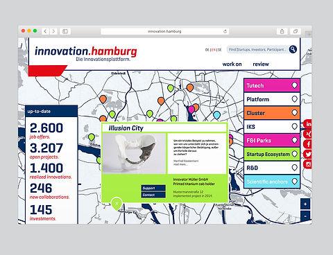 Startseite der Online-Plattform