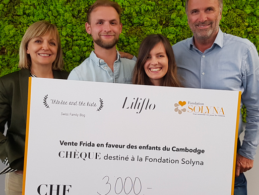 Remise de chèque Therese and the kids & Liliflo