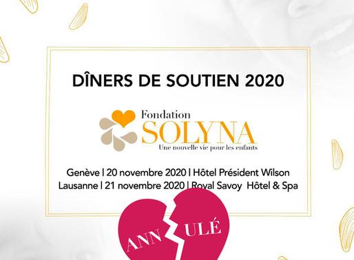 Annulation dîners 2020