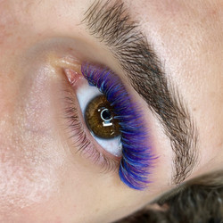 Full set of colored lashes