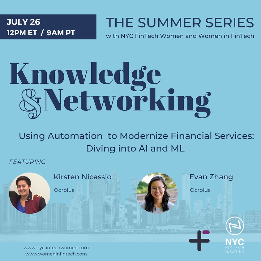 Knowledge & Networking Summer Series: Diving into AI and ML