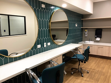 Ottrey Homes Stage 2 Hair Salon. Existing hair salon has been refurbished with new moden looking tiles and fittings. This is a place where residents can be pampered.