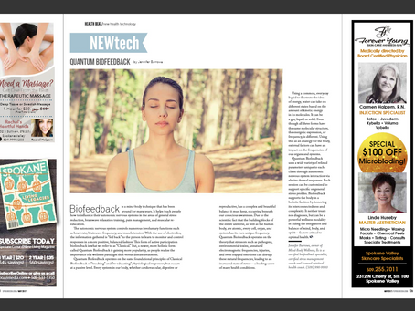 May Issue of Coeur d'Alene Living Magazine article onNew Health Technologies: Quantum Biofeedback