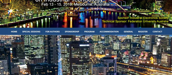 Paper published at IEEE Conference on Industrial Technology (ICIT) in Melbourne