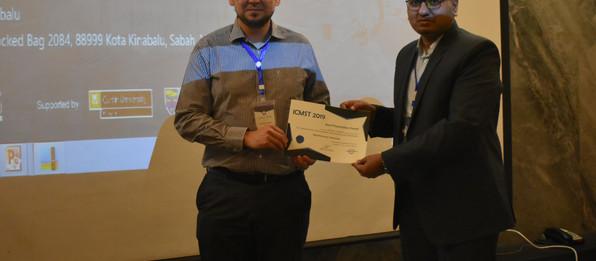 Award-winning presentation at ICMST 2019