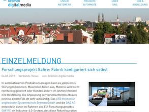 SAFIRE article in Bremen Digital Media
