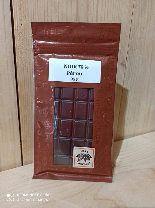 Tablette Noir 76% Pérou 95g