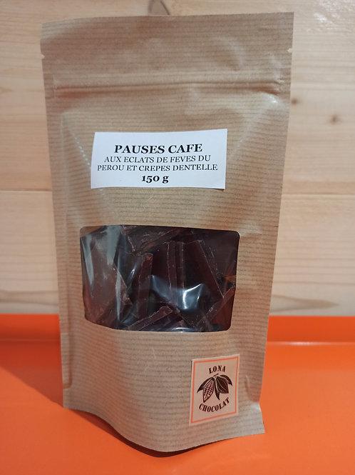 Pauses Café aux éclats de fèves du Pérou et Crêpe Dentelle 150 g