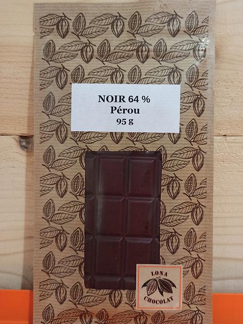 Tablette Noir 64 % Pérou 95g