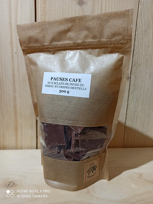 Pauses Café aux éclats de fèves du Pérou et Crêpe Dentelle 300 g