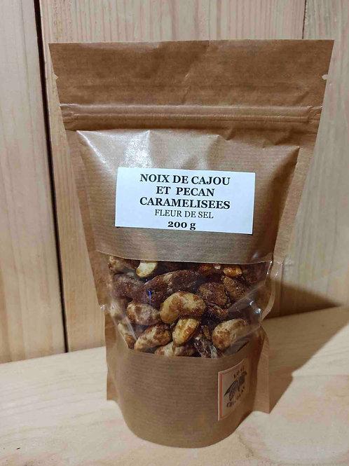 Noix de cajou et Noix de pécan caramélisées Fleur de sel 200 g