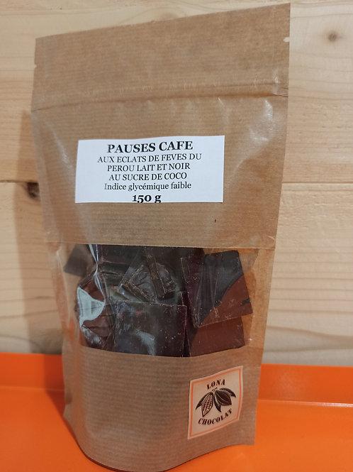 Pauses Café Sucre de Coco aux éclats de fèves du Pérou et Crêpe Dentelle 150 g