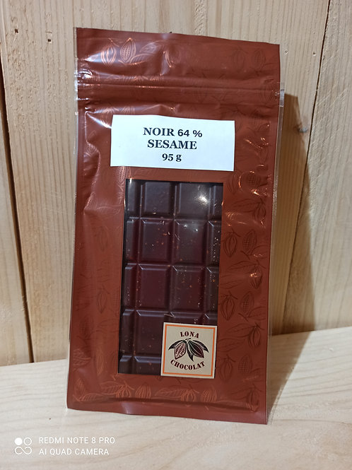 Tablette Noir 64% Sésame 95g