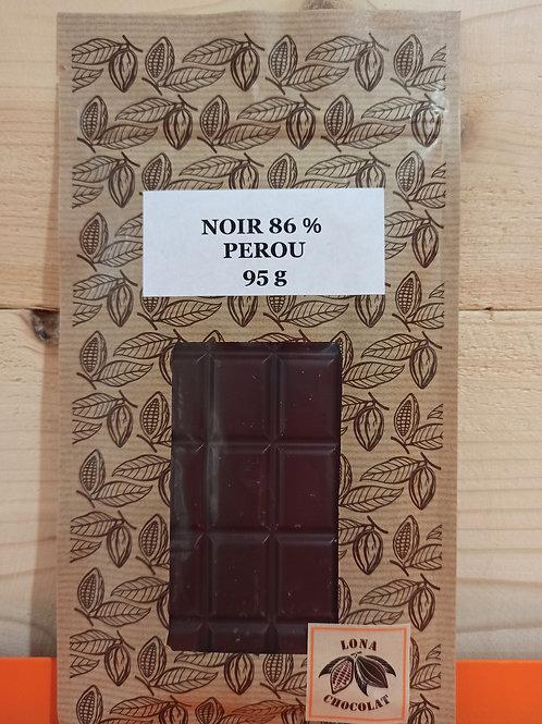 Tablette Noir 86% Pérou 95g