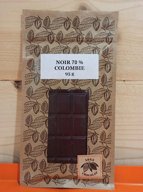 Tablette Noir 70 % Colombie 95g
