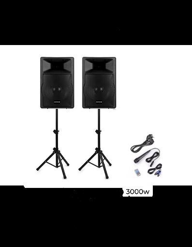 Alquiler de packs de altavoces y accesorios audiovisuales para que el sonido llegue hasta el último rincón de tu evento.