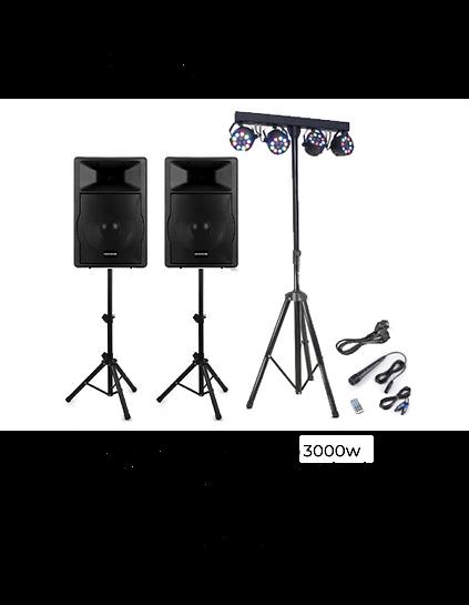 Alquiler de equipos de sonido y luces para todo tipo de eventos