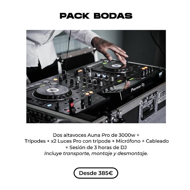 Equipo de sonido para bodas y celebraciones con DJ y todo incluido en Barcelona, Lleida, Tarragona y Girona.