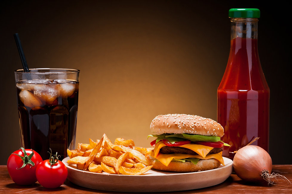 Burger, Chips &