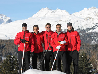 Curling Club Samedan mit 2 Teams an der Open-Air SM in Saas Fee