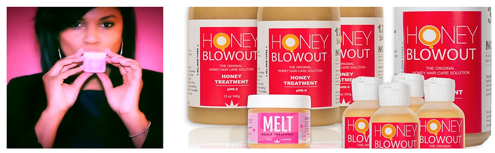 Honey Blowout Pre Poo, Melt Scalp Treatment, Oil Shot, and Body Melt