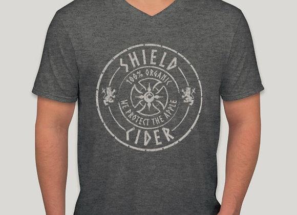 Shield V-Neck T-Shirt — Dark Heather