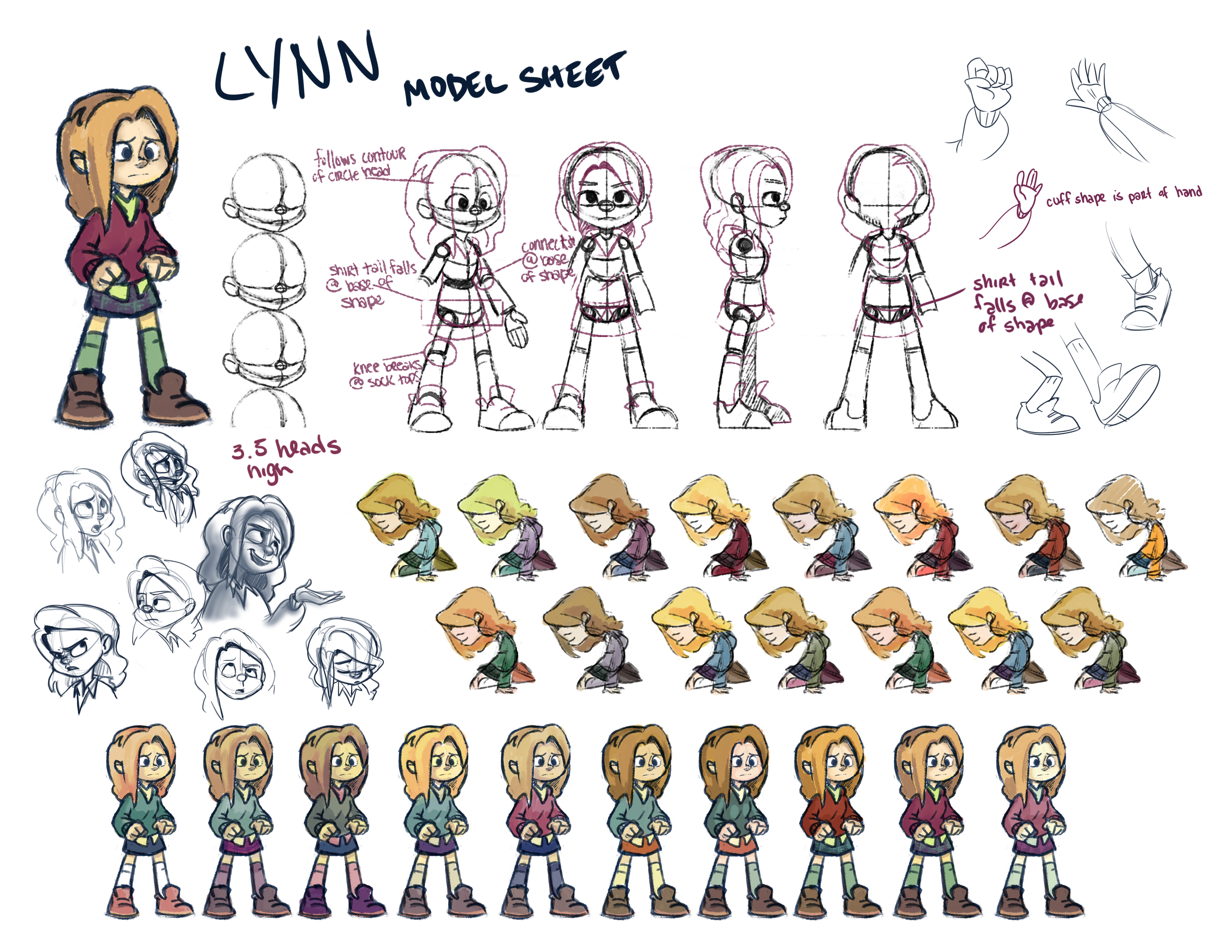 Lynn Model Sheet