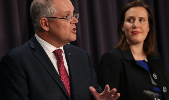 Treasurer Scott Morrison and Kelly O'Dwyer  Photo: Andrew Meares