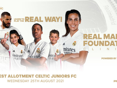 West Allotment Celtic Juniors to host Real Madrid Foundation Clinics