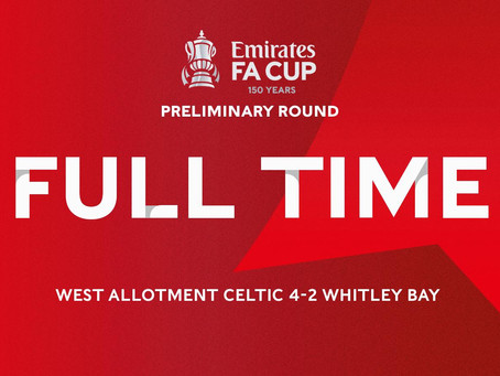 Match Report: West Allotment 4-2 Whitley Bay (Emirates FA Cup 20/08/21)