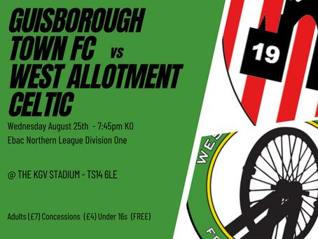 Match Preview: Guisborough Town vs West Allotment Celtic