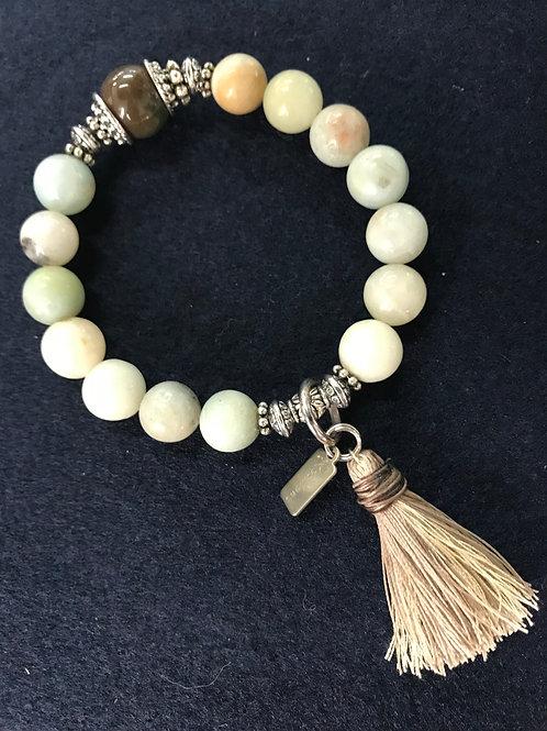Wisdom bracelet with handmade tassel