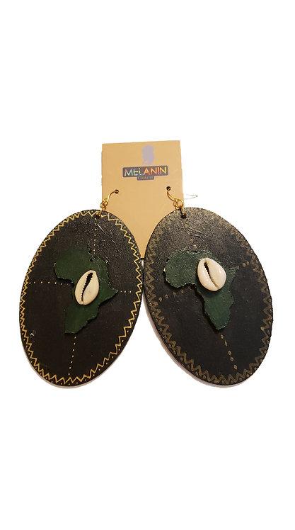 African Shield Earrings