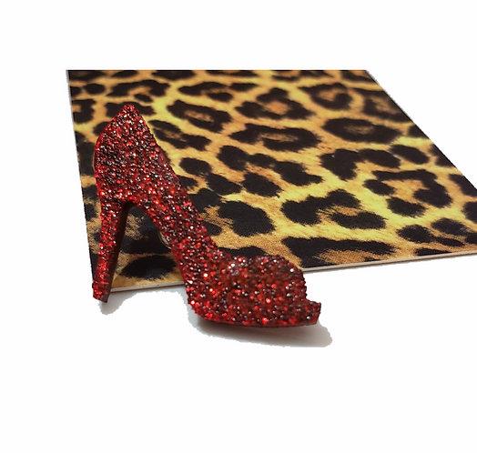Mini Glitter High Heel Brooch Pin