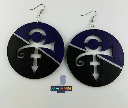 Purple Symbol Earrings