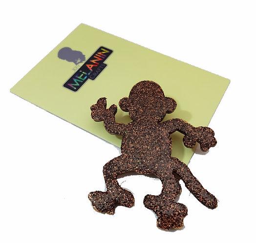 Monkey Brooch Pin